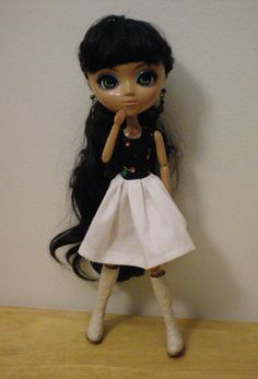 Cotton print dress for Pullip dolls and similar by moonsight68, $6.50