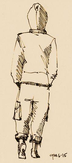 George Mellen - pen sketch