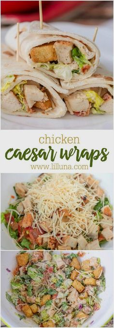Chicken Caesar Wraps Recipe via lil' luna - simple…