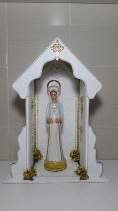 Oratório Grande - Nossa Senhora Grávida! Meus artesanatos. meus artesanatos.  Encomendas entrar em contato pelo @arteemfe Facebook ou instagran