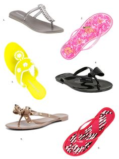 Cute sandals and flip flops and shorts for summer | Summer Shoes: Jelly Flip Flops