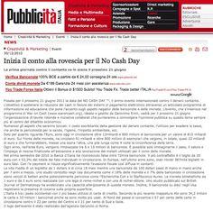 30/12/2010 - Pubblicità ITALIA - Inizia il conto alla rovescia per il No Cash Day