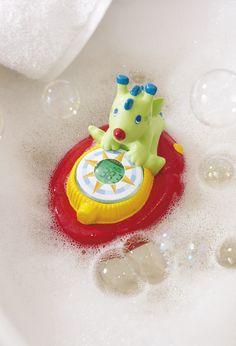 """Badethermometer """"Badedrache Bodo"""" - Der niedliche Badedrache Bodo liebt es, wenn er gemeinsam mit den Kleinsten in der Badewanne baden darf. Und er passt ganz genau auf, wann das Wasser zu kalt oder zu warm wird. So kommt drachenstarker Badespaß auf! Die Messung beginnt bei Wasserkontakt."""