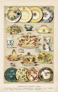 Mrs Beetons Dinner and Dessert China Vintage por TheOldDesignShop