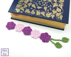 10 Free Crochet Bookmark Patterns: Flower Crochet Bookmark Free Pattern