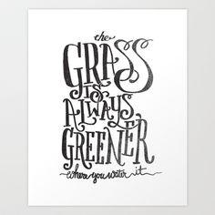 THE GRASS IS ALWAYS GREENER Art Print by Matthew Taylor Wilson - $18.00