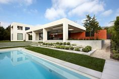 Modern Three Wall House by Kovac Architects - with a backyard that can accommodate the largest gatherings.
