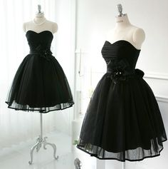 Cheap Ball Gown Sweetheart Black Short Prom Dresses Gowns, Formal Evening Dresses Gowns, Homecoming Graduation Cocktail Party Dresses, littke black dress,Custom Plus size