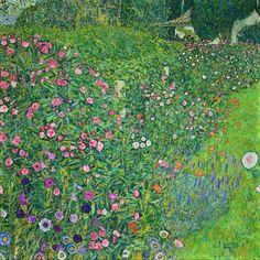 Italian Garden Landscape by Gustav Klimt