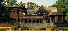 The Frank Lloyd Wright Home and Studio, in Oak Park Illinois.