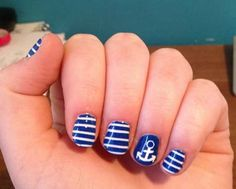 Blue nail art 15 Cute Easy Nail Art Designs In Minutes