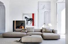 Modular sofa / contemporary / leather / textile PIANOALTO by Ludovica & Roberto . - home studies - Sofas Interior Simple, Home Interior, Living Room Interior, Interior Design, Canapé Design, Deco Design, Sofa Design, Sofa Furniture, Furniture Design