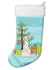 Merry Christmas Tree Dalmatian Christmas Stocking BB4222CS