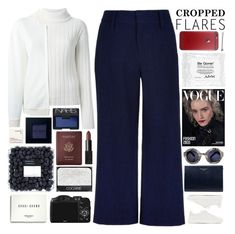 """Cropped Flares / 35"" by dddawn ❤ liked on Polyvore featuring DKNY, TIBI, rag & bone, Aspinal of London, STELLA McCARTNEY, Louis Vuitton, CO, NARS Cosmetics, NYX and Bobbi Brown Cosmetics"