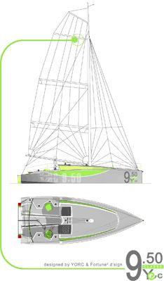 CLASSE 9.50 : Une carène à un seul bouchain vif en sandwich verre-epoxy (...) - SeaSailSurf.com : L'actualité des sports de glisse #mer #voile #sport Yacht Design, Boat Design, Wally Yachts, Cool Boats, Nautical Design, Sailing Boat, Sailboat, Boating, Ideas Para