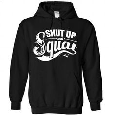 Shut Up And Squat Bodybuilding Gym - #sweaters #awesome t shirts. GET YOURS => https://www.sunfrog.com/Funny/Shut-Up-And-Squat-Bodybuilding-Gym-6449-Black-Hoodie.html?id=60505
