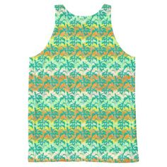 Colorful Tropical Print Pattern All-Over-Print Tank Top custom gift ideas diy
