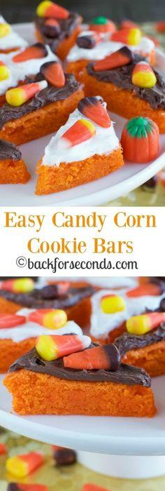Candy corn marshmallow pops for a halloween treat dessert idea! Cute - halloween dessert ideas