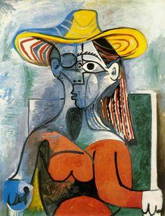 Pablo Picasso, Mujer con sombrero, 1962 Pola Museum of Art, Hakone, Japón Kunst Picasso, Art Picasso, Picasso Paintings, Henri Matisse, Henri Rousseau, Klimt, Paul Gauguin, Art Visage, Cubist Movement