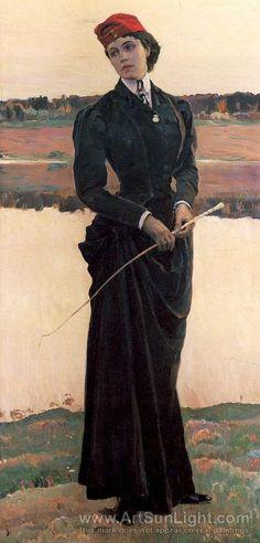 Portrait of Olga Nesterova, known as Woman in a Riding Habit. 1906