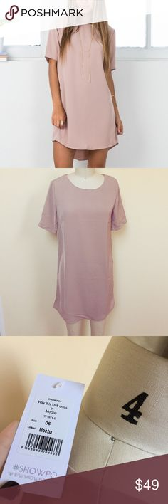 NWT Mocha colored dress NWT and in perfect condition! Super cute dress so on trend right now!! Bought from showpo listing as free people for visibility. Size 6 Australian=XS  Please use only Offer button 🔵 for all price negotiations✅🎉  ❌No Trades❌ Free People Dresses Mini