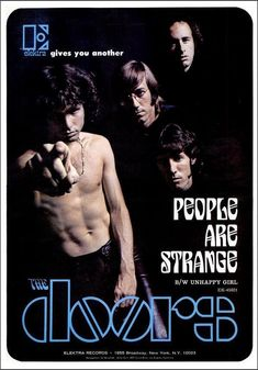 Advertisement for The Doors' 'People Are Strange', September for buba Rock Posters, Concert Posters, Rock Music, My Music, Music Icon, Club 27, Mundo Musical, Digital Foto, The Doors Jim Morrison