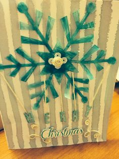 Stampin' Up! demonstrator Carol B's project showing a fun alternate use for the Watercolor Winter Simply Created Card Kit.