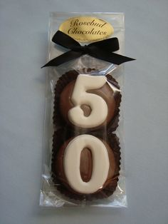8 Milk Chocolate 50th Oreo Cookie Favors by rosebudchocolates, $20.00