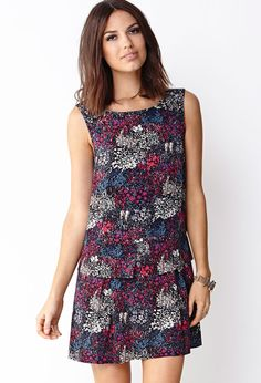Dainty Garden Shift Dress | FOREVER21 - 2000091870
