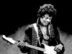 Jimi Hendrix - Painting - Black and White