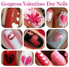 I love this Valentine Nail Art. They are so gorgeous! Check them out at www.frugalmomeh.com