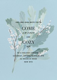 Lamb's Ear by Paperless Post. Send custom online holiday party invitations with our easy-to-use design tools and RSVP tracking. View more holiday invitations on paperlesspost.com. #holiday_parties  #holiday_invitations  #happy_holidays