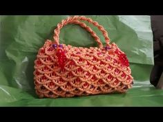 how to make DIY macrame purse for ladies and girl - YouTube