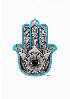 Hamsa hand or hand of Fatima.