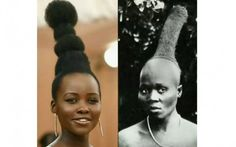 Fashion groupies swooned over Lupita Nyong'o's recent skyscraping Met Gala updo and Vogue (being Vogue) jumped to credit the inspiration for her style to Audrey Hepburn. Lupita's blunt…