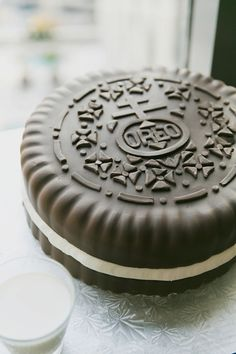 Oreo groom's cake! | Our Labor of Love #wedding