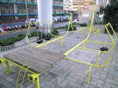 Aire de jeux à Taipei par City Yeast et Basurama
