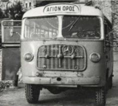 Από τα πρώτα λεωφορεία στο Άγιο Όρος Old Photos, Vintage Photos, Routemaster, Athens, Nostalgia, The Past, Times, Black And White, History