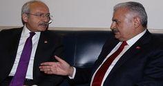 Başbakan Binali Yıldırım, AK Parti'nin Anayasa Değişikliği teklifi görüşmeleri için geldiği TBMM'de, CHP Lideri Kemal Kılıçdaroğlu ile görüştü.