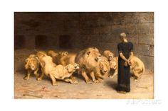 Daniel in the Lions' Den, 1872 Gicléedruk van Briton Riviere