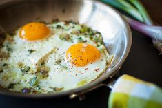 Spring Garlic Fried Eggs