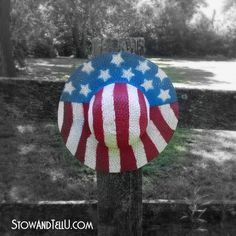 Patriotic Straw Hats {Stars and Stripes Blog Tour} | Stow&TellUStow&TellU