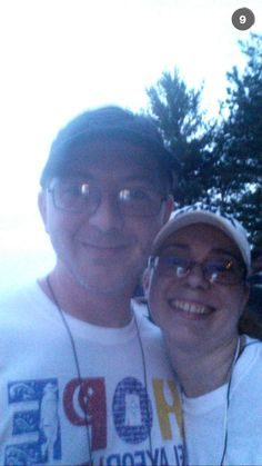 Relay for Life 2015 Phil & I walking for a great cause