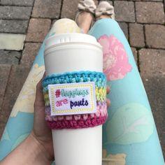 women's leggings, yoga pants, leggings, how I roe, leggings consultant, lularoe gift, lularoe consultant, lularoe obsessed, coffee cup cozy, cup cozy, rainbow cozy, rainbow crochet, starbucks lover, dunkin donuts