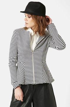 Topshop Tailored Peplum Jacket