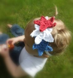 Red White and Blue Star Baby Headband  4th of by AbigailsAttic112, $8.00