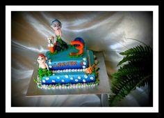 My bubble guppy cake