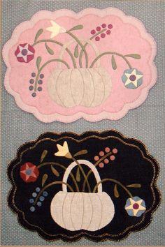 Garden Flowers Wool Penny Rug