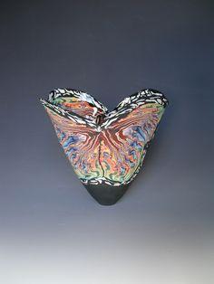 Coloured Porcelain Vases by Judith de Vries Glass Ceramic, Ceramic Clay, Porcelain Ceramics, China Porcelain, China Jewelry, Clay Art, Decorative Bowls, Color, Vintage
