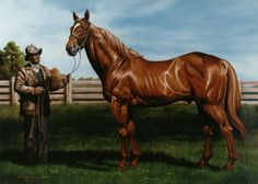 Horse Portrait - Equine Art Painting - Man O' War and Will - Culpepper Collection